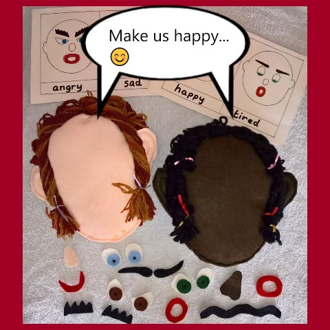 Emotion face puppets