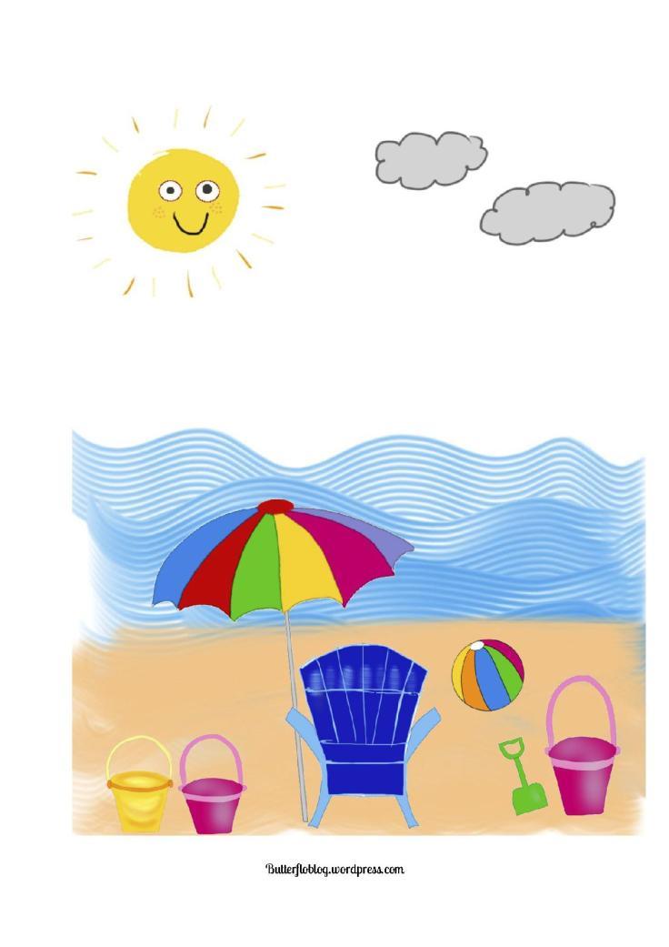 Summertime beach activity
