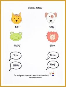 Animal talk worksheet
