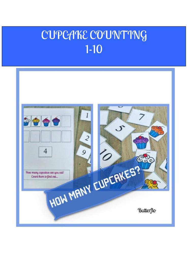 CUPCAKE COUNTING COVER