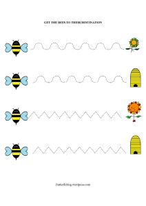 Bumble Bee Line Trace activity
