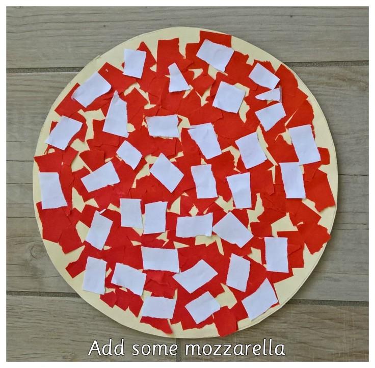 PIZZA. ADD THE MOZZARELLA