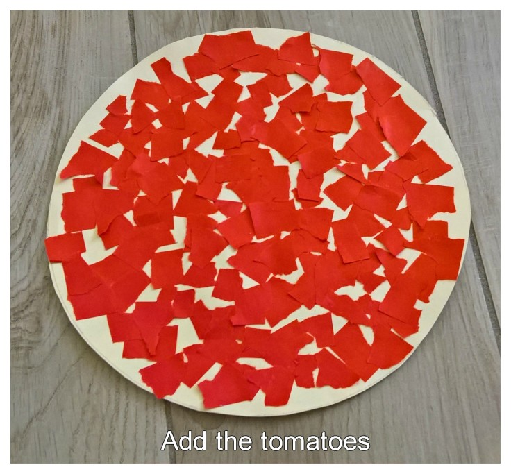 PIZZA ADD THE TOMATOES
