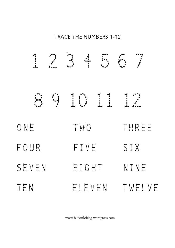 NUMBER TRACKING 1-12