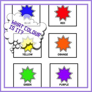 FLASHCARDS THE COLOURS