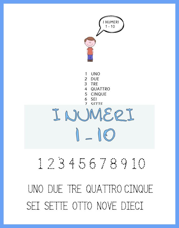 I NUMERI 1- 10