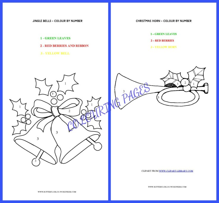 JINGLE BELLS COLOURING PAGE