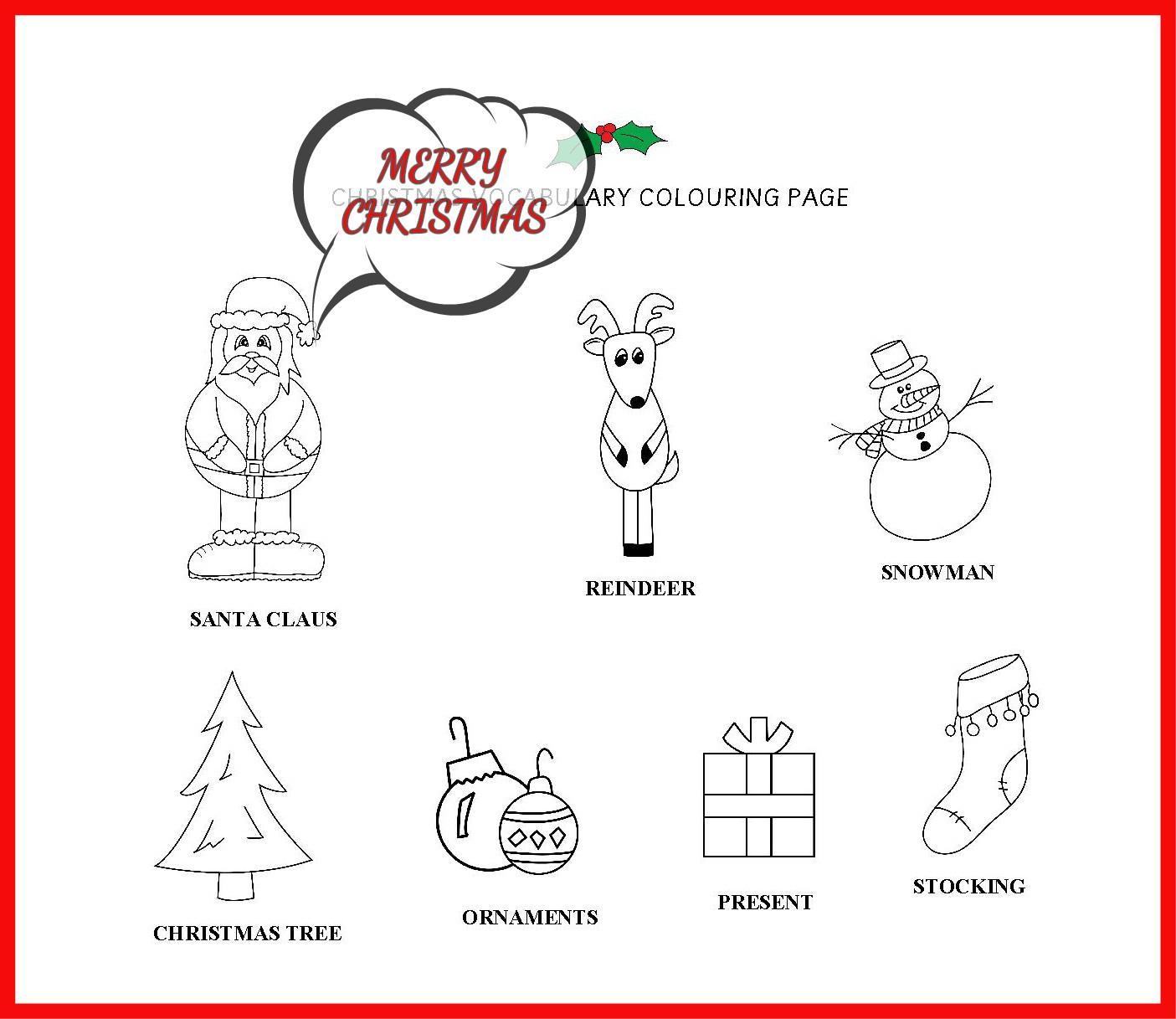 CHRISTMAS VOCABUALRY