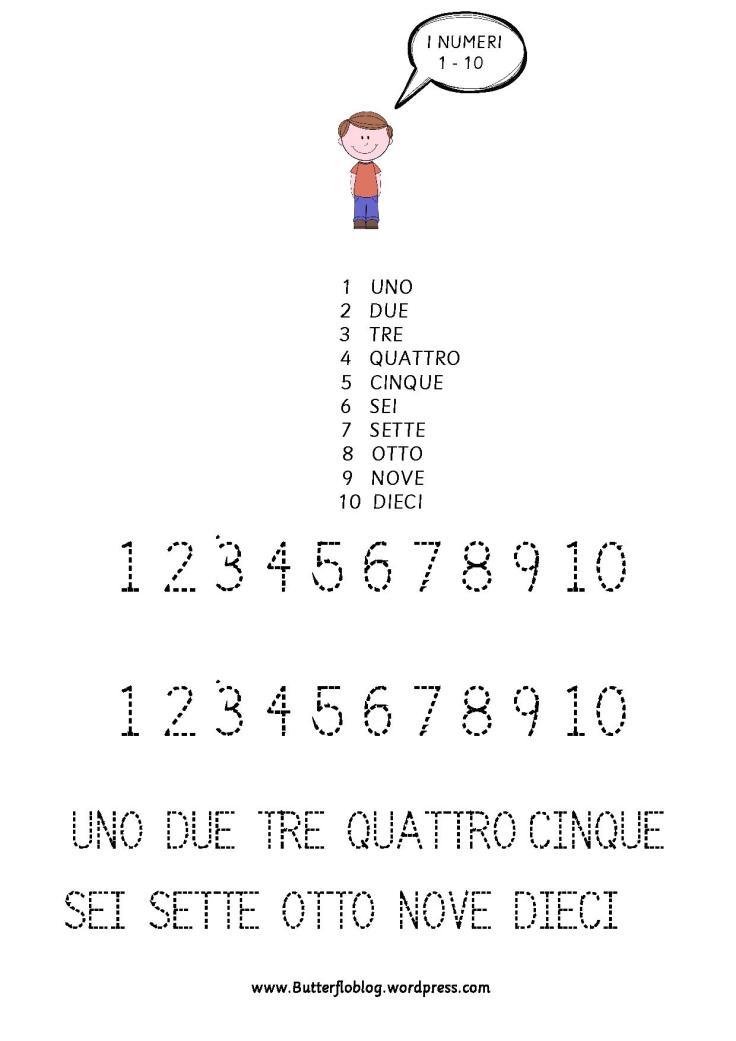 I NUMERI 1 - 10