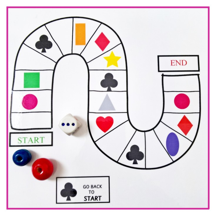THE SHAPES BOARD GAME