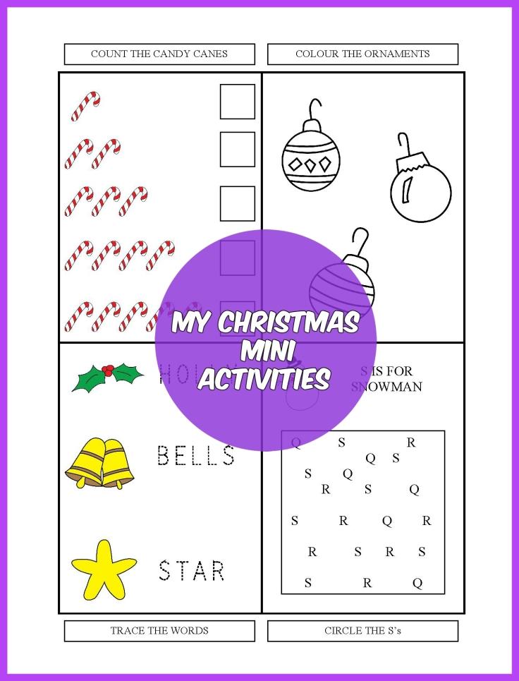 CHRISTMAS MINI ACTIVITIES