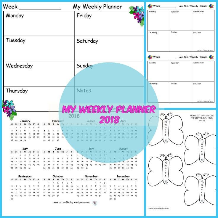 MY WEEKLY PLANNER 2018