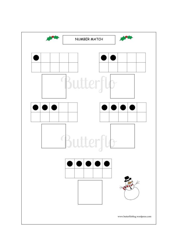 CHRISTMAS NUMBER MATCH 1-10