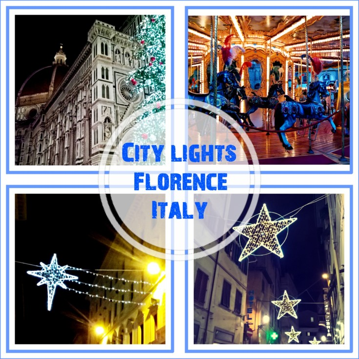 CITY LIGHTS FLORENCE ITALY DECEMBER 2017