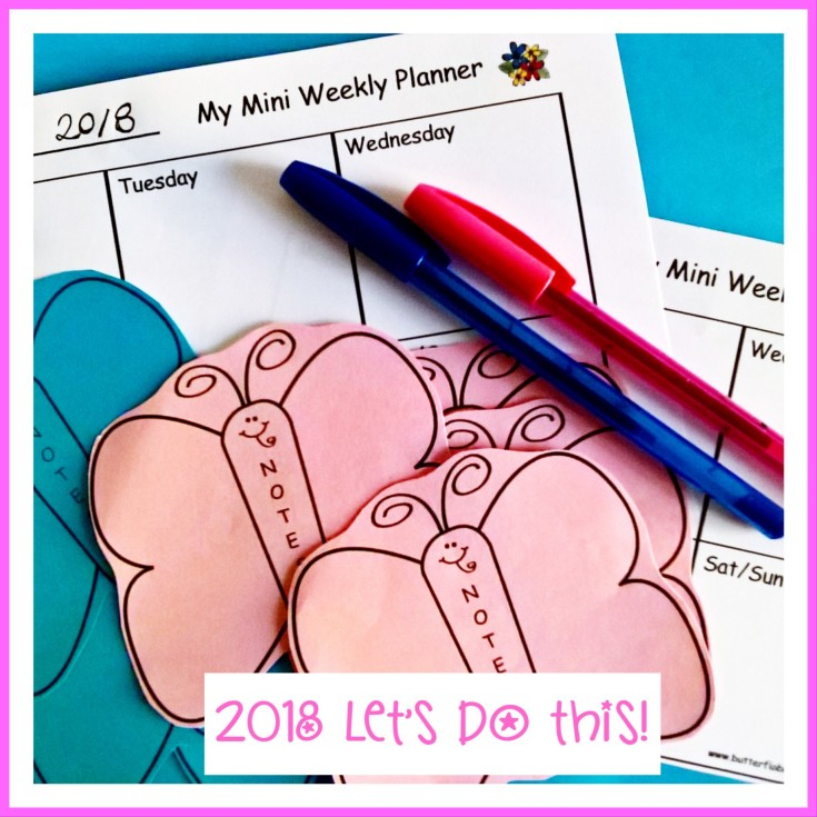 2018 WEEKLY PLANNING