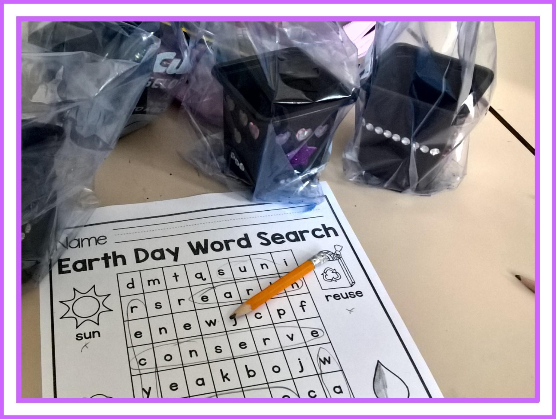 EARTH DAY WORD SEARECH