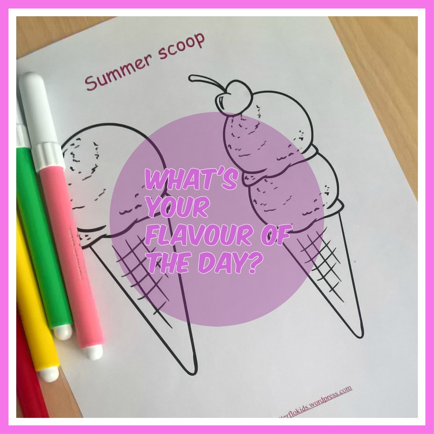 ICE CREAM FLAVOUR OF THE DAY