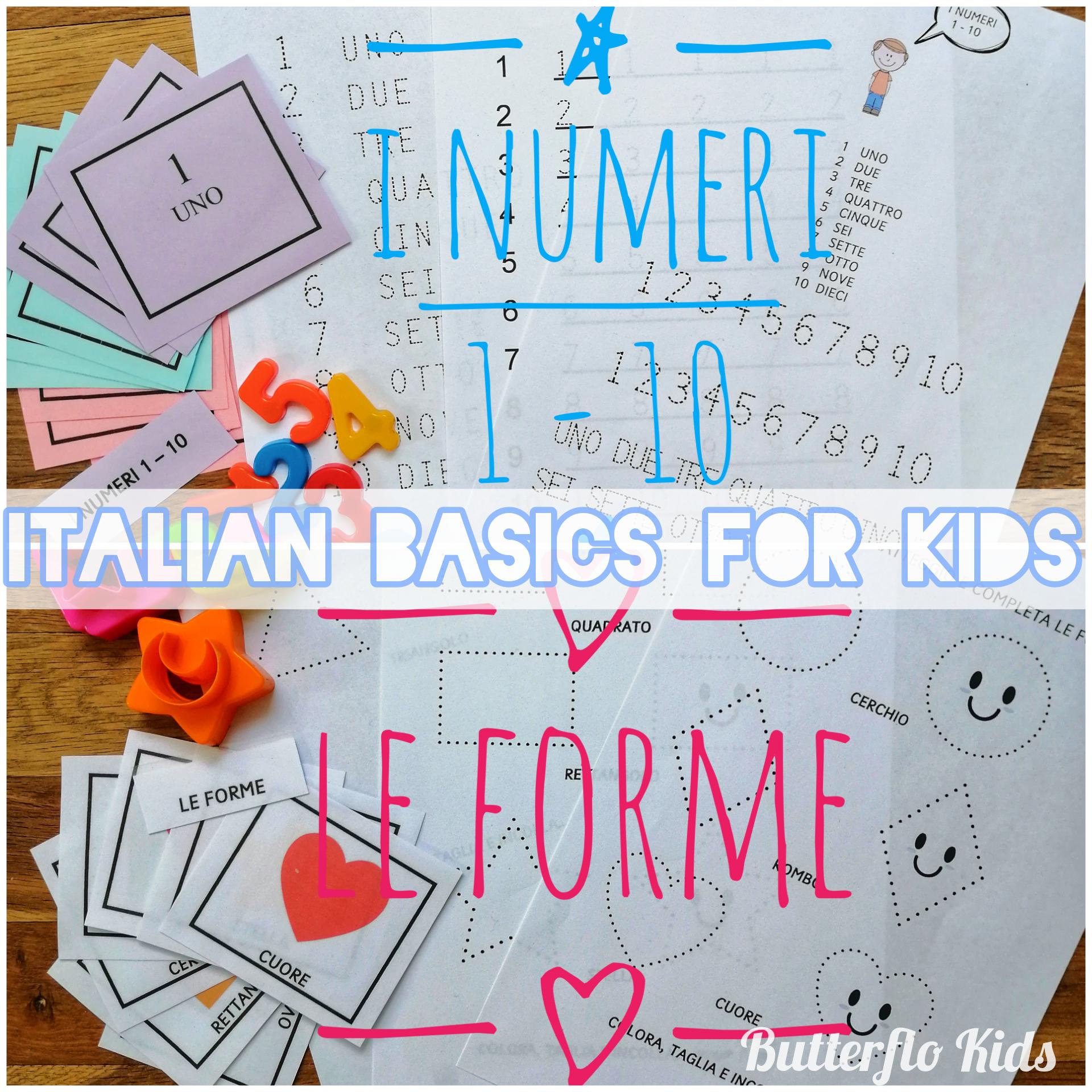 ITALIAN BASICS FOR KIDS